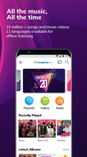 Hungama Music - Stream & Download MP3 Songs 5.2.8 screenshots 1