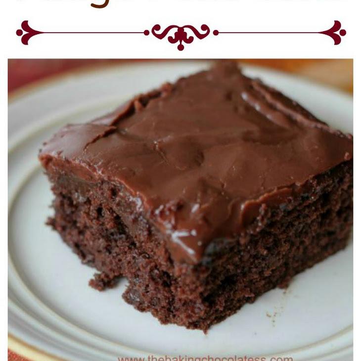 Sinful Triple Chocolate Fudge Poke Cake Recipe