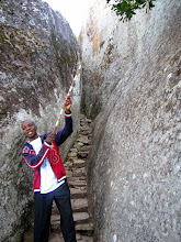 Photo: Great Zimbabwe - our guide Lovemore