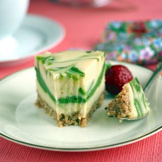 Marbled Matcha-Lemon Raw Vegan Cheesecake