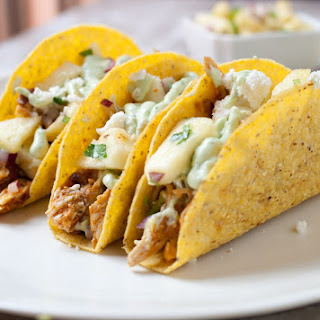 Spicy Chicken Pineapple Tacos