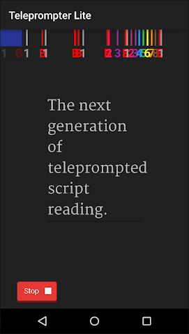 android Teleprompter Lite Screenshot 2