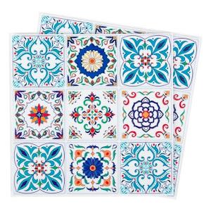 Set 18 stickere adezive decorative, caleidoscop, 9x9 cm