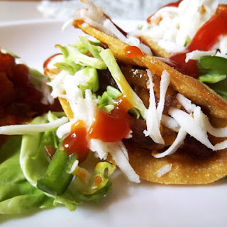 Healthy Mexican Veggie Tacos with Spicy Kidney Beans.
