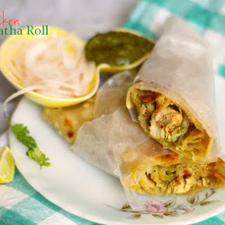 Chicken Paratha Roll (Pakistani Flatbread Chicken Wraps)