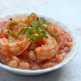 Weight Watchers Crock Pot White Beans and Shrimp.