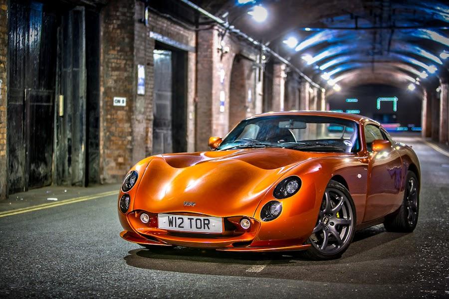 Tuscan 2 by Adrian Wilson - Transportation Automobiles ( car, orange, lancashire, british, sports car, super car, tvr, blackpool, fast car, tuscan )