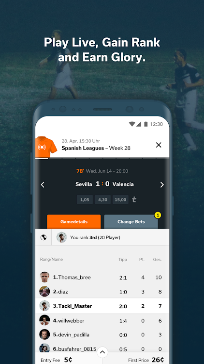 tackl - football match prediction app with friends