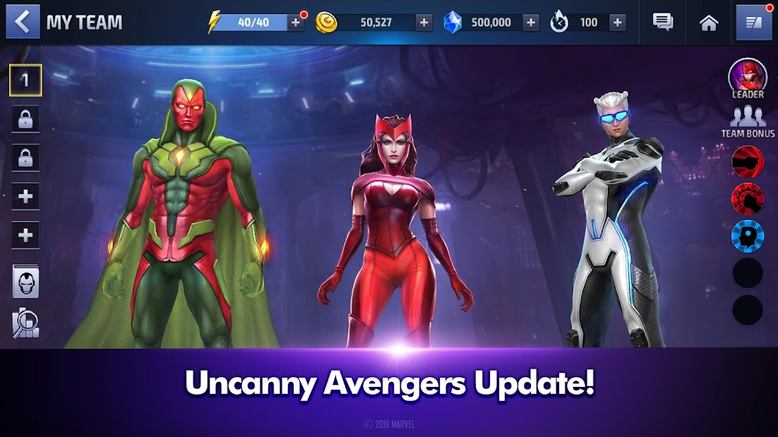 MARVEL Future Fight Android App Screenshot