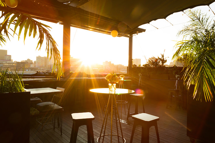 Incredible views of Joburg while taking in the African sunset at The Living Room, Maboneng.
