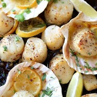 Sheet Pan Garlic Butter Scallops.