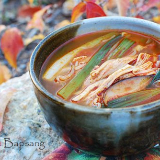Dakgaejang (Spicy Soup with Chicken/Turkey Leftovers).