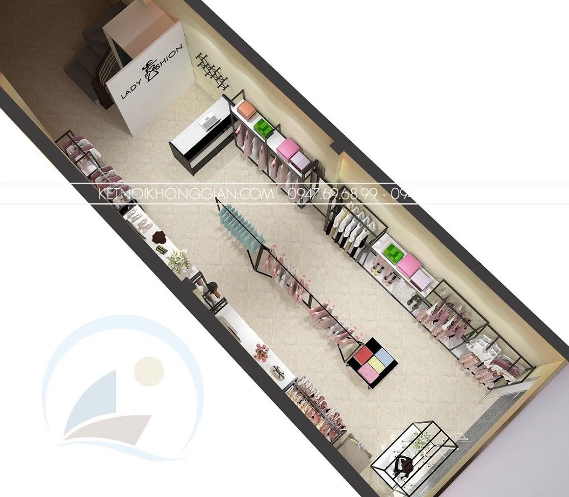 thiết kế shop thời trang công sở chuyên nghiệp