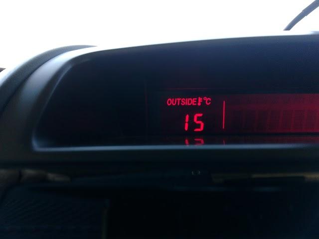気温は15℃