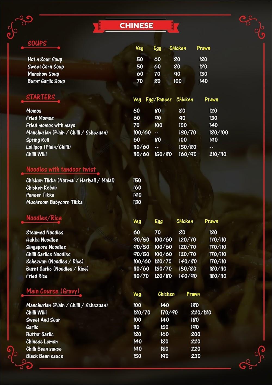 Eagles  menu 2