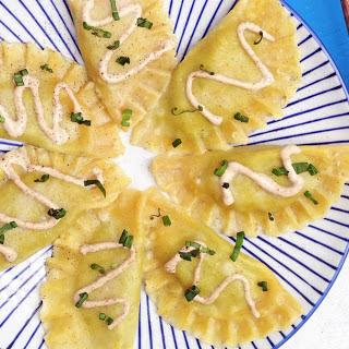 Spinach and Soy Ricotta Ravioli [Vegan]
