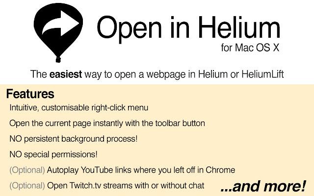 Open in Helium