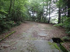 ここから未舗装路