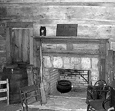 Photo: Tennessee cabin fireplace