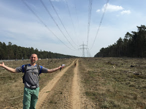 "Photo: ""Isn't this glorious?"" Olaf says as we make our way through part of the trek along a highway and high power lines."