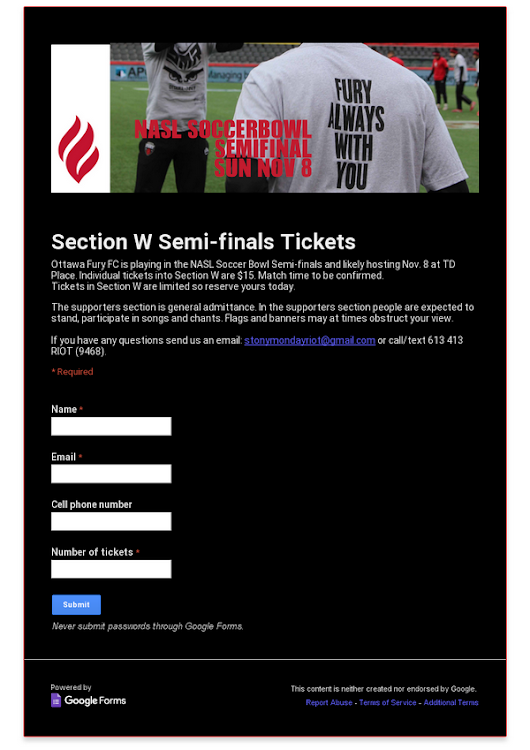 Section W Semi-finals Tickets