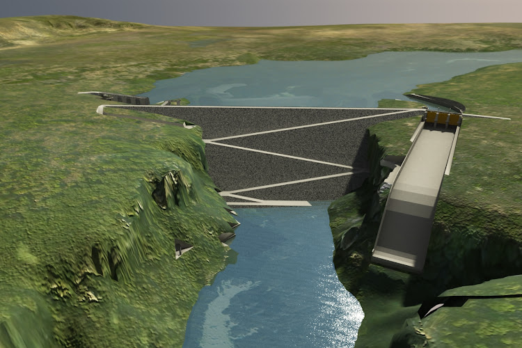 An artists rendering of Caculo-Cabaça dam. Image: INTERTECHNE