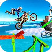 Mini Motorcycle Racing: Tricky Bike Stunt Driving