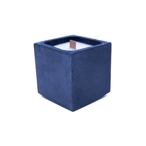 bougie en béton gris anthracite