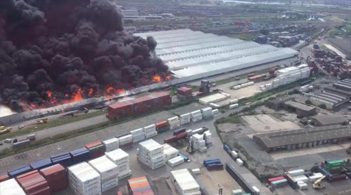 Water restrictions hampering efforts to douse Durban warehouse blaze