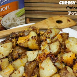 Cheesy Bacon Onion Roasted Potatoes