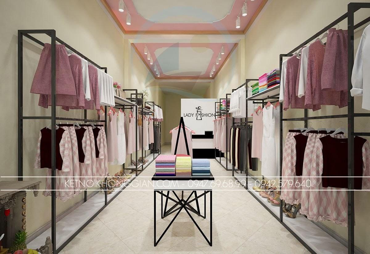 thiết kế shop thời trang công sở nữ tính