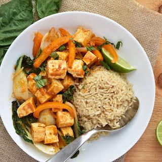 Thai Red Curry Tofu & Bok Choy Stew.