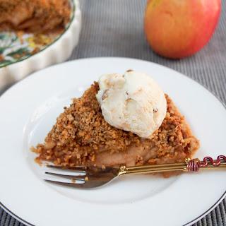 Walnut Crumble-topped Apple Tart