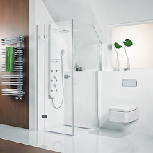 Duschkabinen_03 Premium Softcube Drehtür mit Seitenwand im Sondermaß