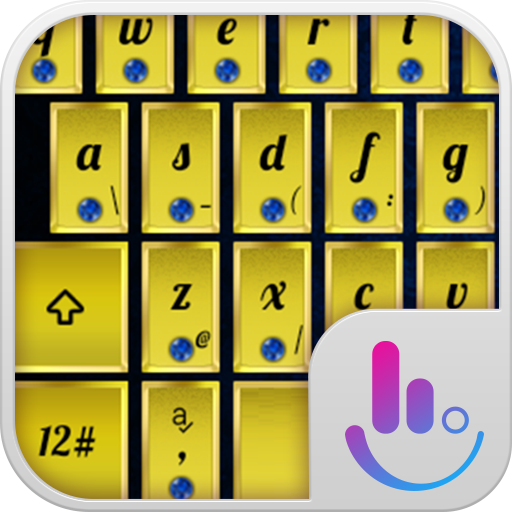 个人化のTouchPal Emoji Royal Gold LOGO-記事Game