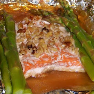 Easy Honey Dijon Salmon In Asparagus