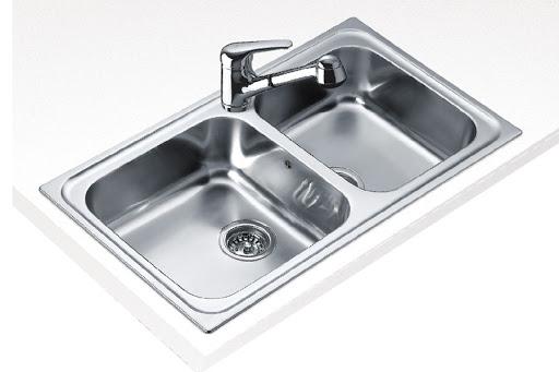 Chậu rửa TEKA CLASSIC 2B 86 được làm bằng chất liệu thép không gỉ