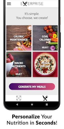 Exerprise - Workout & Meal Plan Generator screenshots 2