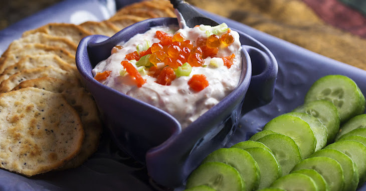 Caviar and Smoked Salmon Cream Cheese Dip Recipe