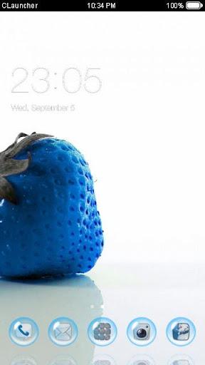 Blue Strawberry Theme