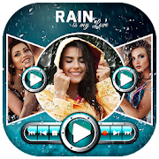 Rainy Video Maker With Romantic Song
