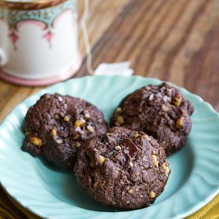 Dark Chocolate Walnut Cookies.