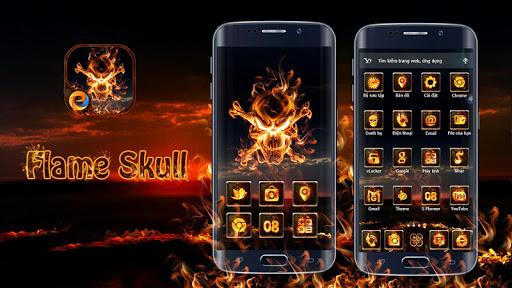 Flame Skull - eTheme Launcher