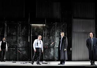 Photo: Theater an der Wien: La mère coupable Oper in drei Akten von Darius Milhaud . Premiere am 8.5.2015. Aris Agiris, Andrew Owens, Markus Butter, Stephane Loges. Copyright: Barbara Zeininger