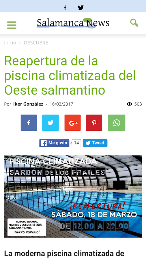 Salamanca News- screenshot