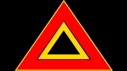 Car Emergency Road Sign