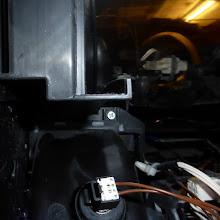 Photo: Sicherungsschraube Ventilatorgehäuse (Kreuzschraube, warum, weiß ich nicht)