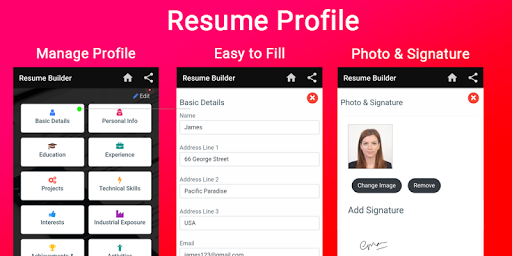 Resume builder Free CV maker templates formats app 9.3 screenshots 16