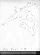 "Photo: Classic post, ""Batman leaping through the night sky"" sketch."