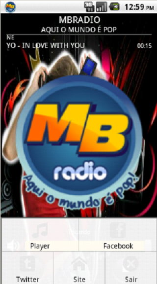 MBRADIO - AQUI O MUNDO É POP: captura de tela